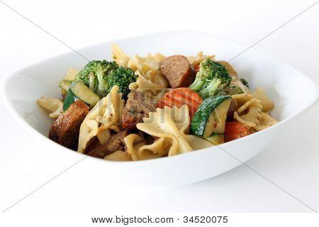 Bowtie Pasta Primavera with Sausage