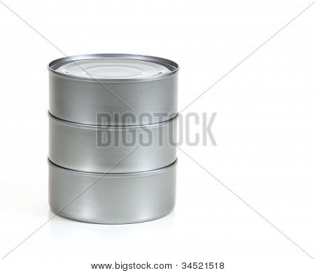 Stacked Tin Cans