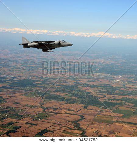 Modern Jetfighter In Flight
