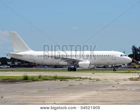 Unmarked Passenger Airplane