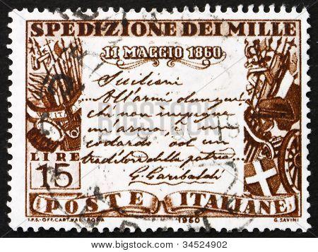 Postage stamp Italy 1960 Garibaldi