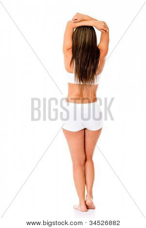 Woman with beautiful body - isolated over a white background