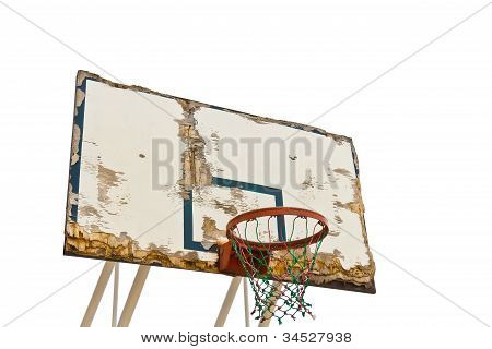 Worn Basketball Board