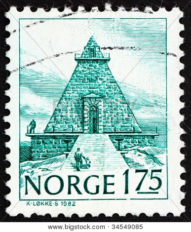 Postage stamp Norway 1982 The Remembrance Hall, Stavern