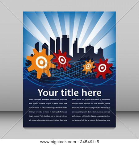 Urban cityscape leaflet design.