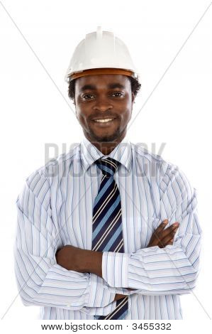 Photo Of Handsome Engineer Smiling