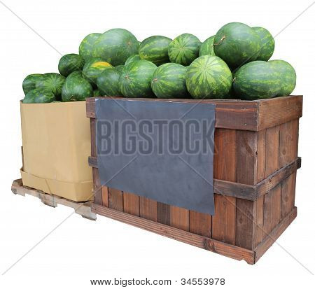 Watermelons For Sale Display