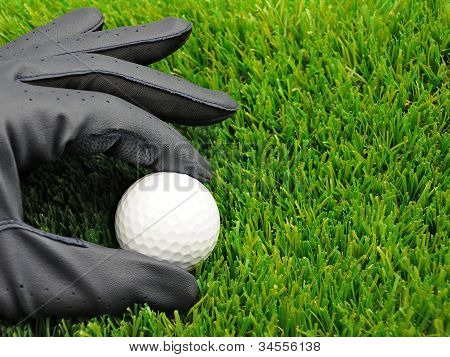 Golf Ball And Glove