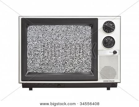 1980's portable television set with static isolated.