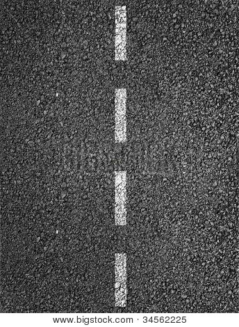 New asphalt texture with white dashed line