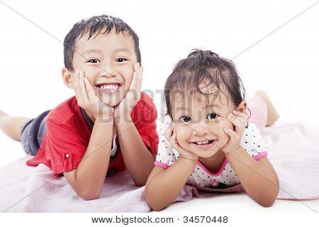Cute Sibling Posing