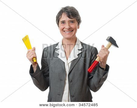 Lady With Tools
