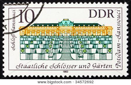 Postage stamp GDR 1983 Sanssouci Palace, Potsdam, Germany
