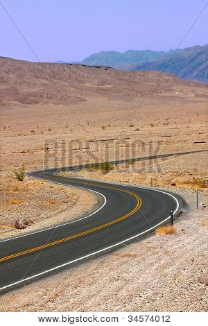 Winding Death Valley Road