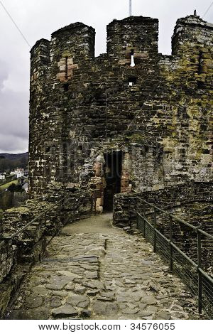 Ruins of Conwy Castle, Wales