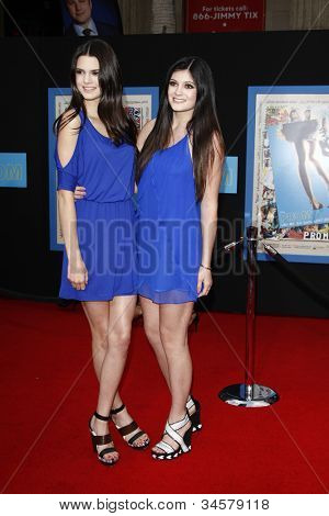 LOS ANGELES - APR 21: Kendall Jenner, Kylie Jenner at the premiere of Walt Disney Pictures' 'Prom' at the El Capitan on April 21, 2011 in Los Angeles, California