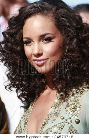 LOS ANGELES - JUN 28: Alicia Keys at the 2009 BET Awards held at the Shrine Auditorium in Los Angeles, California on June 28, 2009