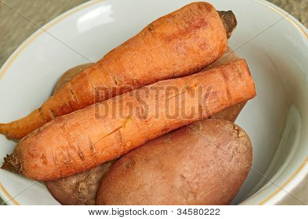 Boiled Vegetables On A Plate