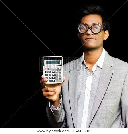 Nerdy Asian Accountant Or Maths Genius