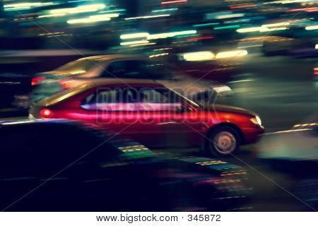 Abstract Night Traffic