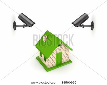 Observation cameras and small house.
