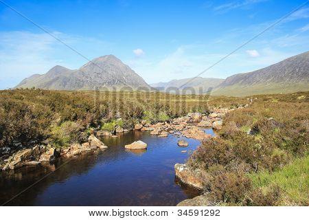 Glen Coe River Highlands Scotland