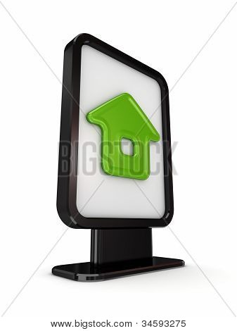 Black lightbox with Home symbol.