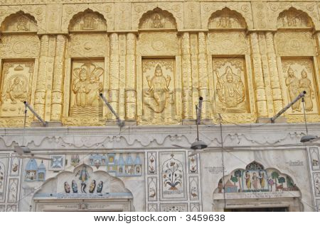 Gold Facade Of Hindu Temple
