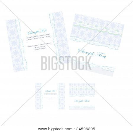 Stylish Wedding templates cards set , vector illustration