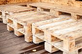 Furniture From A Pallet. Pallet Furniture With Wheels. Modern Interior Detail poster