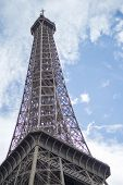 Eiffel Tower Silhouette In Paris City. Eiffel Tower In Paris France During Sunny Day. Paris Eiffel T poster
