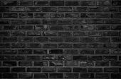 Abstract Dark Brick Wall Texture Background Pattern, Wall Brick Surface Texture. Brickwork Painted O poster