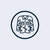 Uniform Icon Isolated On White Background. Uniform Icon Simple Sign. Uniform Icon Trendy And Modern  poster