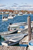 Lobster and crab fishing boats in Maine, USA poster