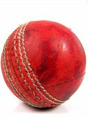 Polished Red Cricket Ball poster