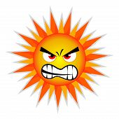 stock photo of heatwave  - Evil summer sun - JPG