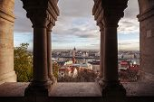 View Of Morning Budapest And The Building Of The Budapest Parliament From The Fishermans Bastion. Su poster