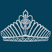 Постер, плакат: Корона диадема женственной свадьба с жемчугом