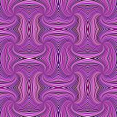 Purple Seamless Psychedelic Abstract Spiral Ray Stripe Pattern Background - Vector Illustration poster