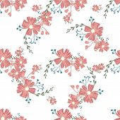 Seamless Floral Pattern. Flowers Texture. Simplicity Flower Surface Pattern Design poster