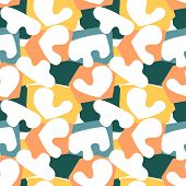 Trendy Seamless Pattern With Graphic Abstract Geometric Shapes. Avant-garde Puzzle Style. Geometric poster