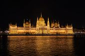 Hungarian Parliament In Center Of Budapest, Hungary poster
