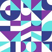 Colorful Vector Background In Bauhaus Style. Geometric Composition For Banners, Posters, Flyers, Bro poster