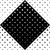 Geometrical Square Pattern Background - Monochrome Abstract Vector Design From Diagonal Squares poster