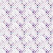 Abstract Colorful Seamless Rounded Square Pattern Background Design - Geometrical Vector Illustratio poster