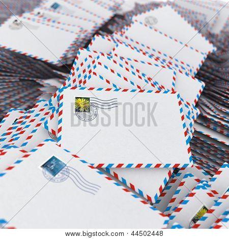 Pile of Envelopes.