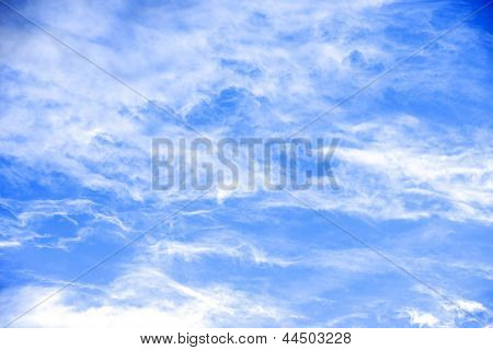 Beauty Peaceful Sky With White Clouds