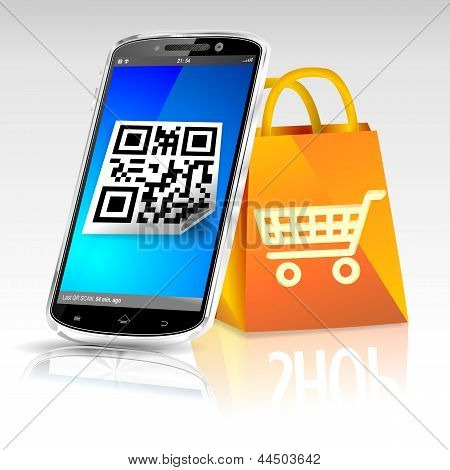 Smartphone shopping bag online shop