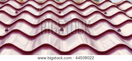 Purple Metal Tile Roof