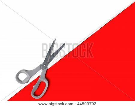 Línea punteada con cupón de tijeras